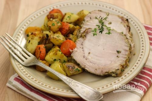 Мясо с овощами в духовке. Пошаговый рецепт с фото 75