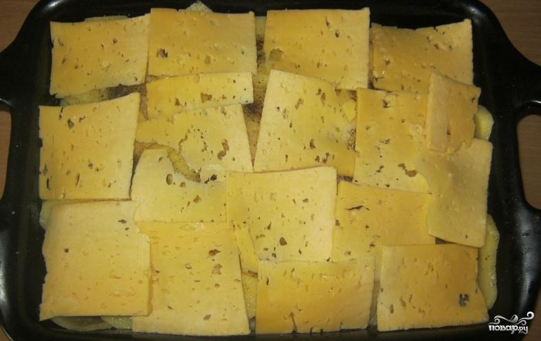 Картошка со свининой и сыром в духовке - фото шаг 7