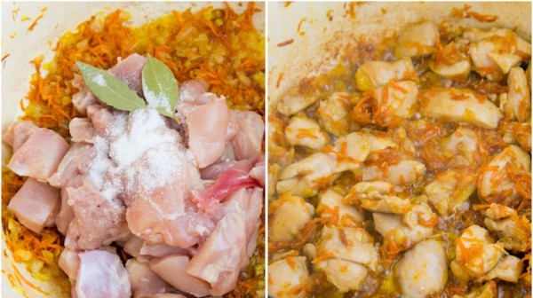 Курица с рисом и морковью - фото шаг 3