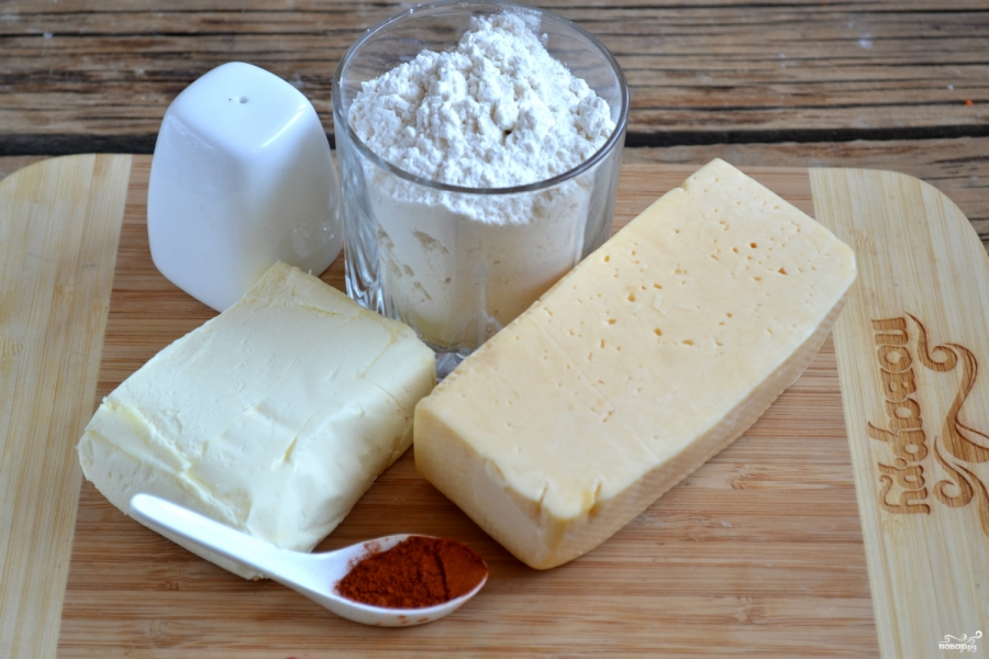 Сырное печенье - фото шаг 1