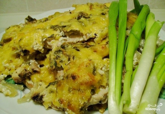 отбивная с грибами и сыром в духовке рецепт
