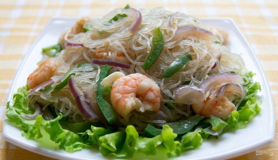 рецепт салата с овощами и соевым соусом