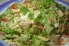 Простой салат из курицы и сыра