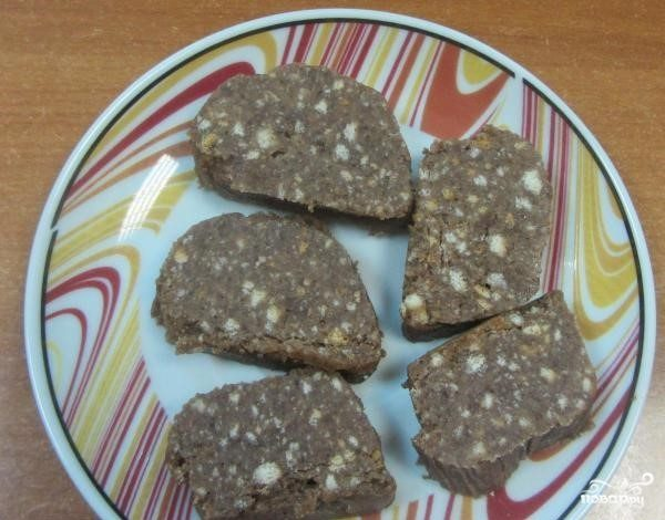 """Пирожное """"Шоколадная колбаска"""""""