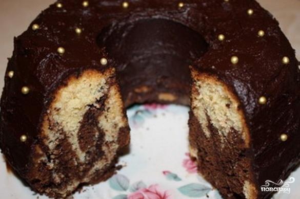 Шоколадный кекс рецепт на кефире с фото