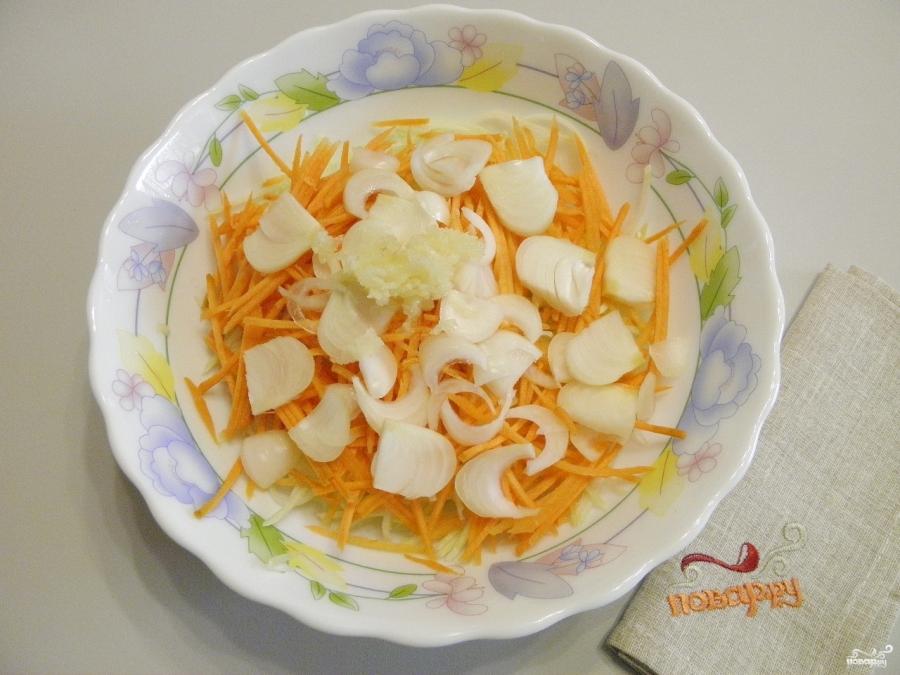 Кабачки с морковью и луком на зиму - фото шаг 3