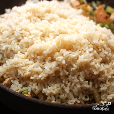 Коричневый рис с индейкой и овощами - фото шаг 5