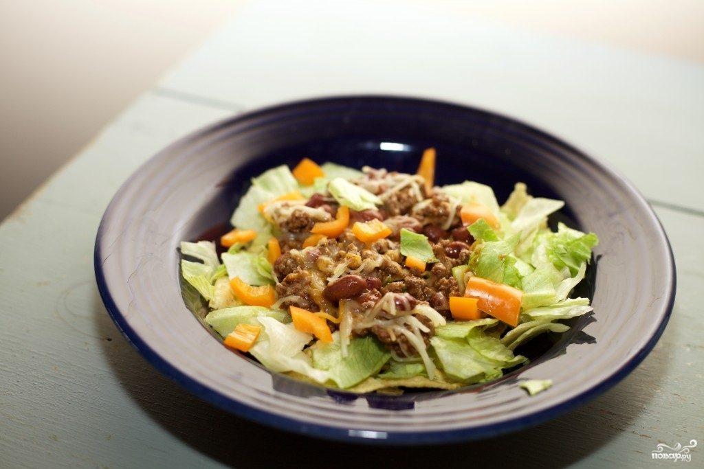 Французский салат с мясом