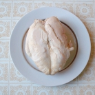 Рецепт Легкий салат из риса, курицы и фруктов