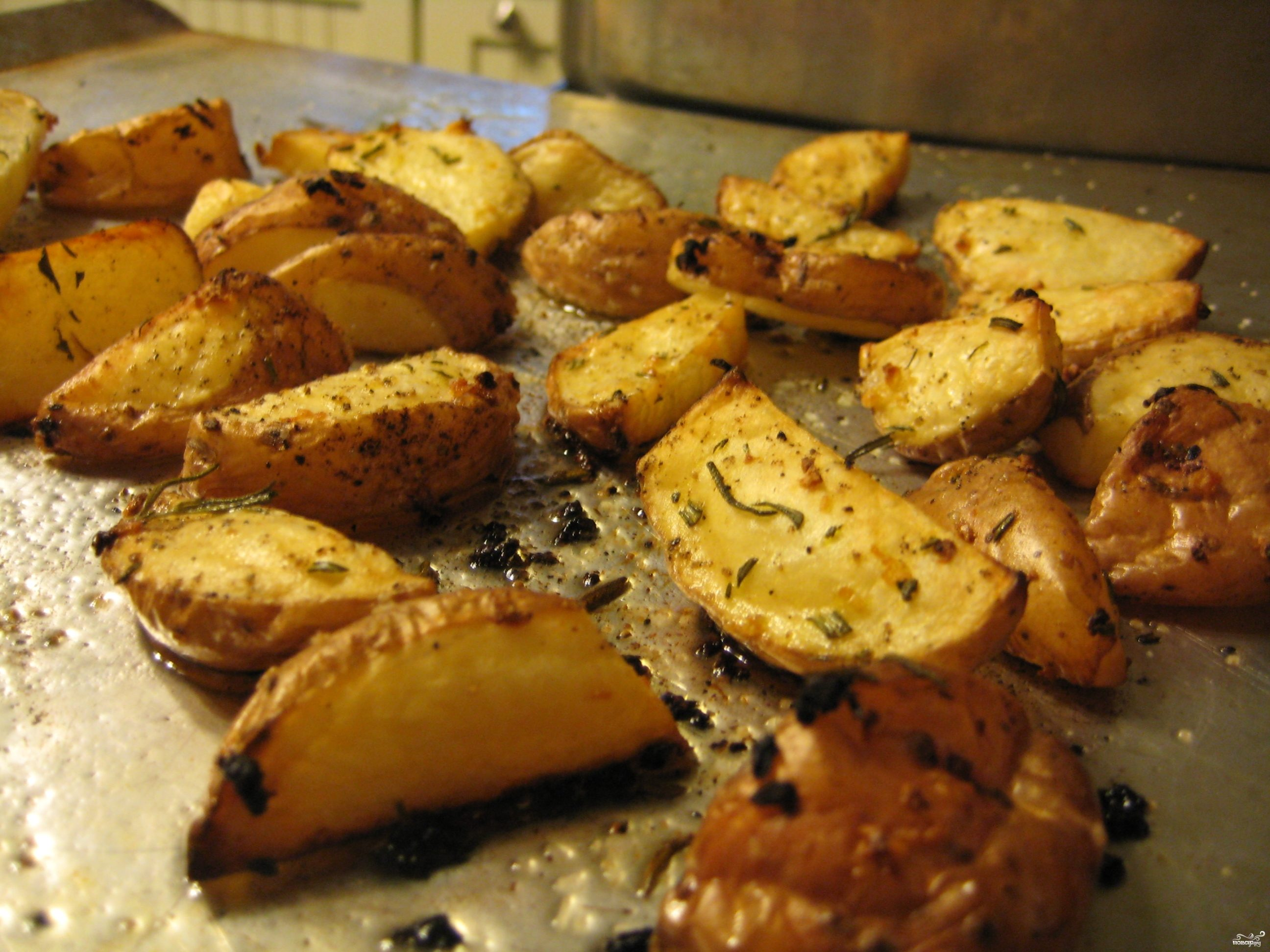 Рецепт Картошка в духовке с чесноком