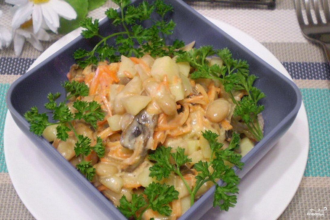 Рецепт салата с корейской морковкой и перцем