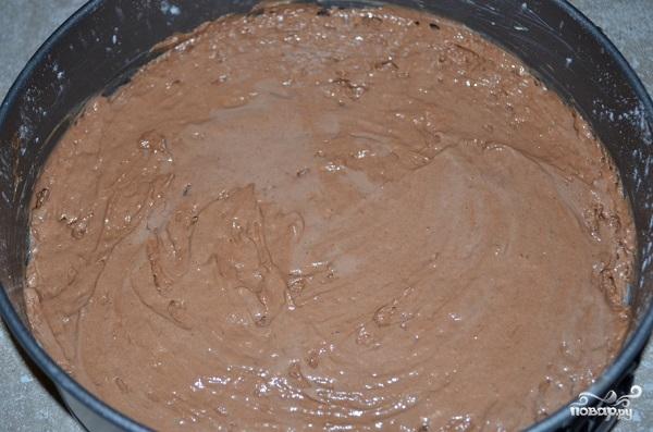 Шоколадный торт с кокосом - фото шаг 4