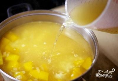 Тыквенный суп-пюре с рисом - фото шаг 7