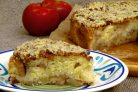 Яблочный пирог с сахарно-ореховой глазурью