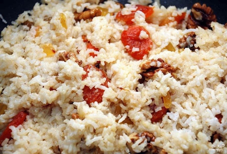 Постная рисовая каша с сухофруктами - фото шаг 5