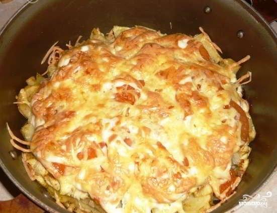 Фаршированная курица с овощами в духовке рецепт 103