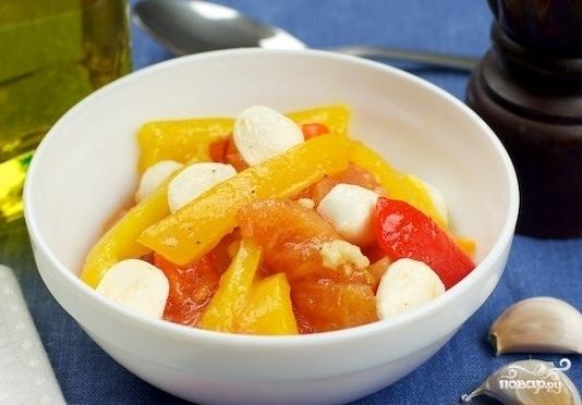 Салат из запеченных перцев - фото шаг 5