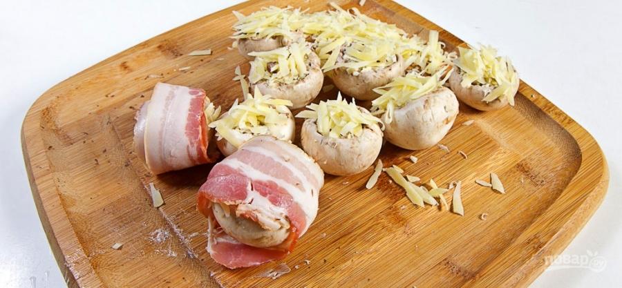 шампиньоны в беконе в духовке фото рецепт
