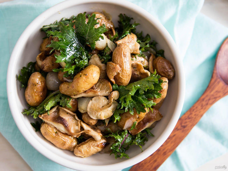 рецепт как приготовить грибной салат