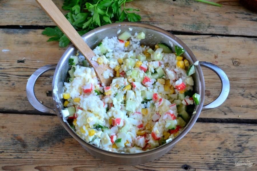 крабовый салат все рецепты