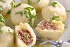 Картофельно-сырные ньокки, фаршированные мясом