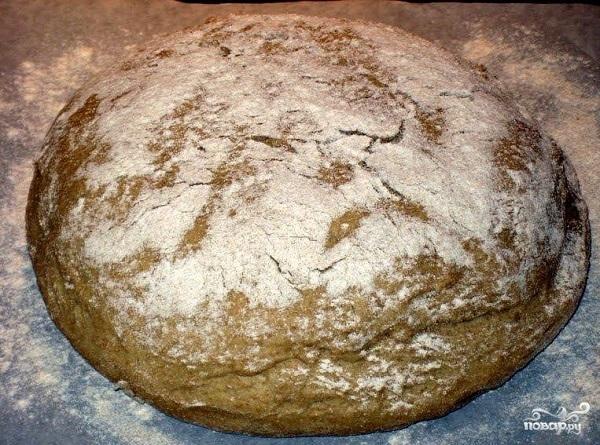 Приготовить черный хлеб в духовке