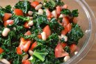 Салат с белой фасолью консервированной