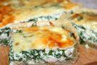 Пирог с рукколой и рыбой в духовке