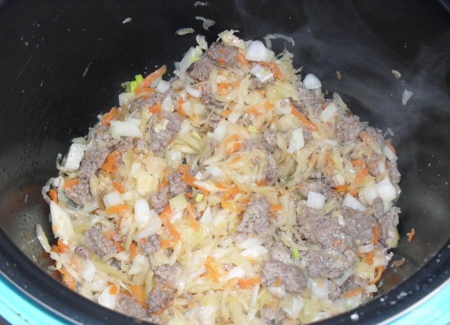 Пирог с капустой и мясом - фото шаг 1