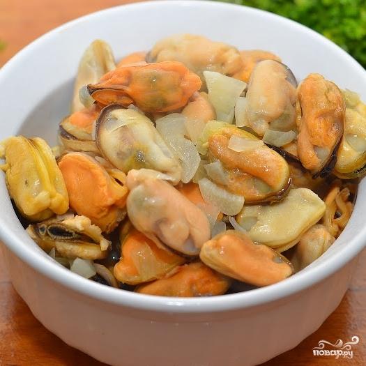 Средиземноморский салат с мидиями - фото шаг 5