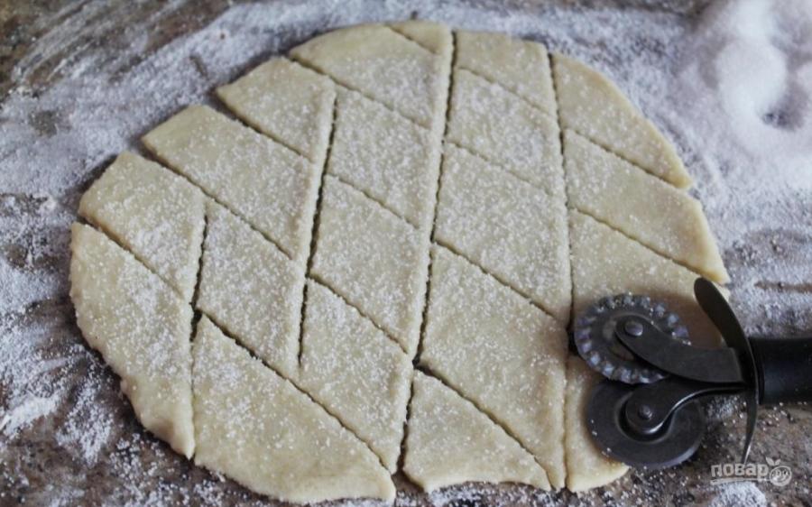 Печенье без маргарина с вареньем рецепт