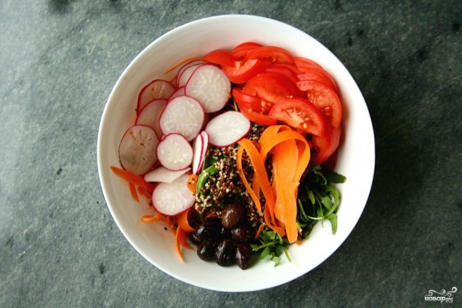 Салат из киноа с овощами - фото шаг 3