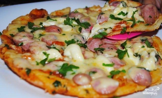 Быстрая пицца в мультиварке
