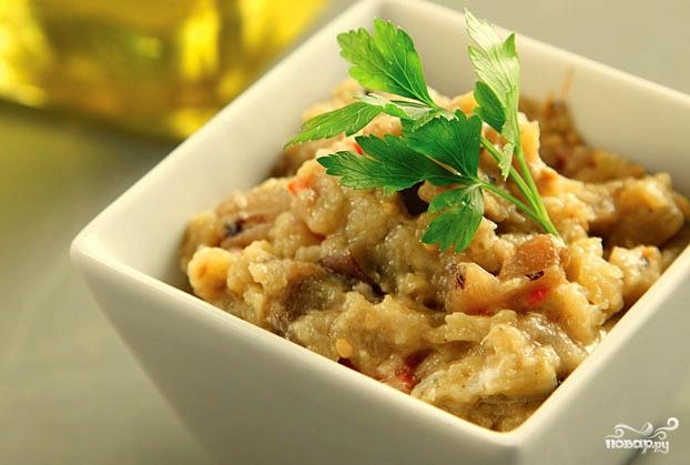 Греческий салат из баклажанов - фото шаг 8