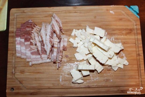 Сырный суп с беконом - фото шаг 2