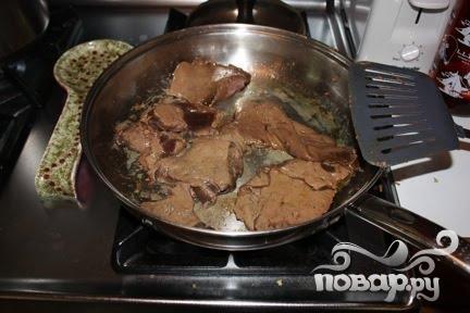Простое соте из говяжьей печени - фото шаг 5