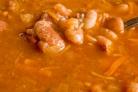 Суп фасолевый с сушеными грибами