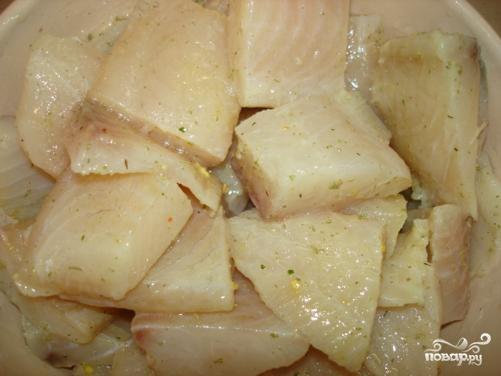 Рецепт Шашлык из рыбы на шпажках