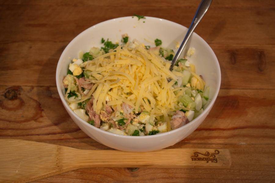 салат с тунцом и майонезом рецепт с фото