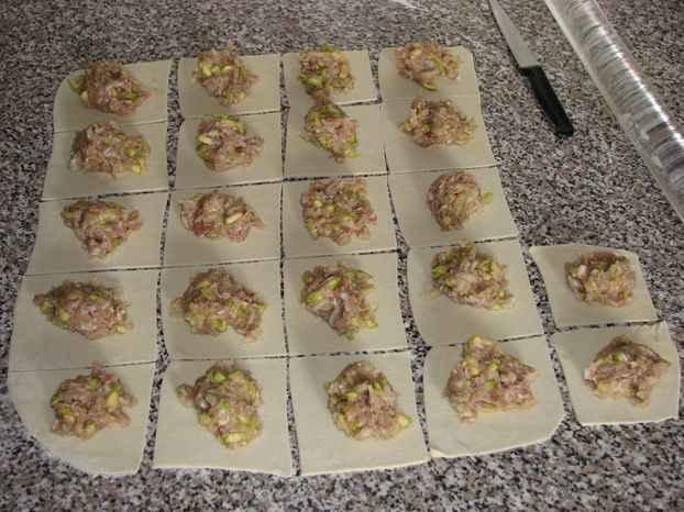 Манты с кабачком и мясом - фото шаг 3