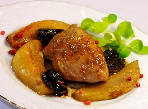 Свинина с черносливом Пошаговый рецепт с фото  Кушать нет