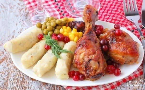 Курица в клюквенно-медовом соусе