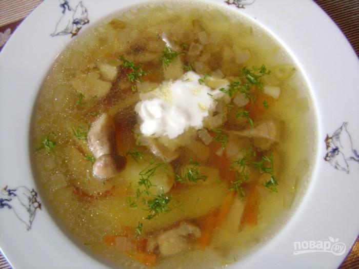 Грибной суп с белых замороженных грибов рецепт пошагово