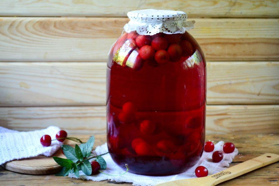 Сколько нужно сахара на 2 литра компота из вишни