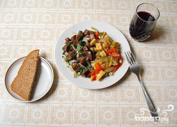 Телячье сердце с овощами - фото шаг 4