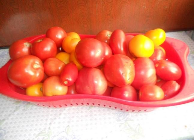 Салат из помидоров на зиму без стерилизации - фото шаг 1