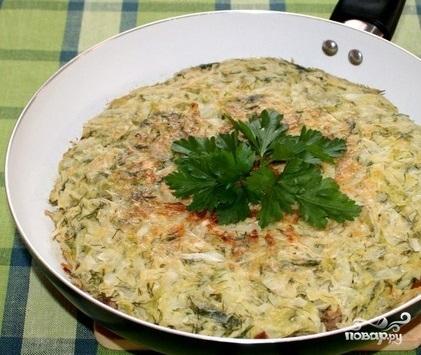 Рецепт Капустный пирог на сковороде