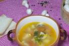 Суп со свининой и грибами