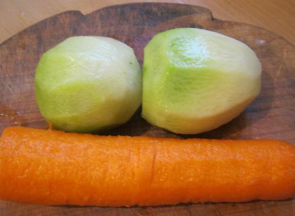 Рецепт Простой салат из редьки