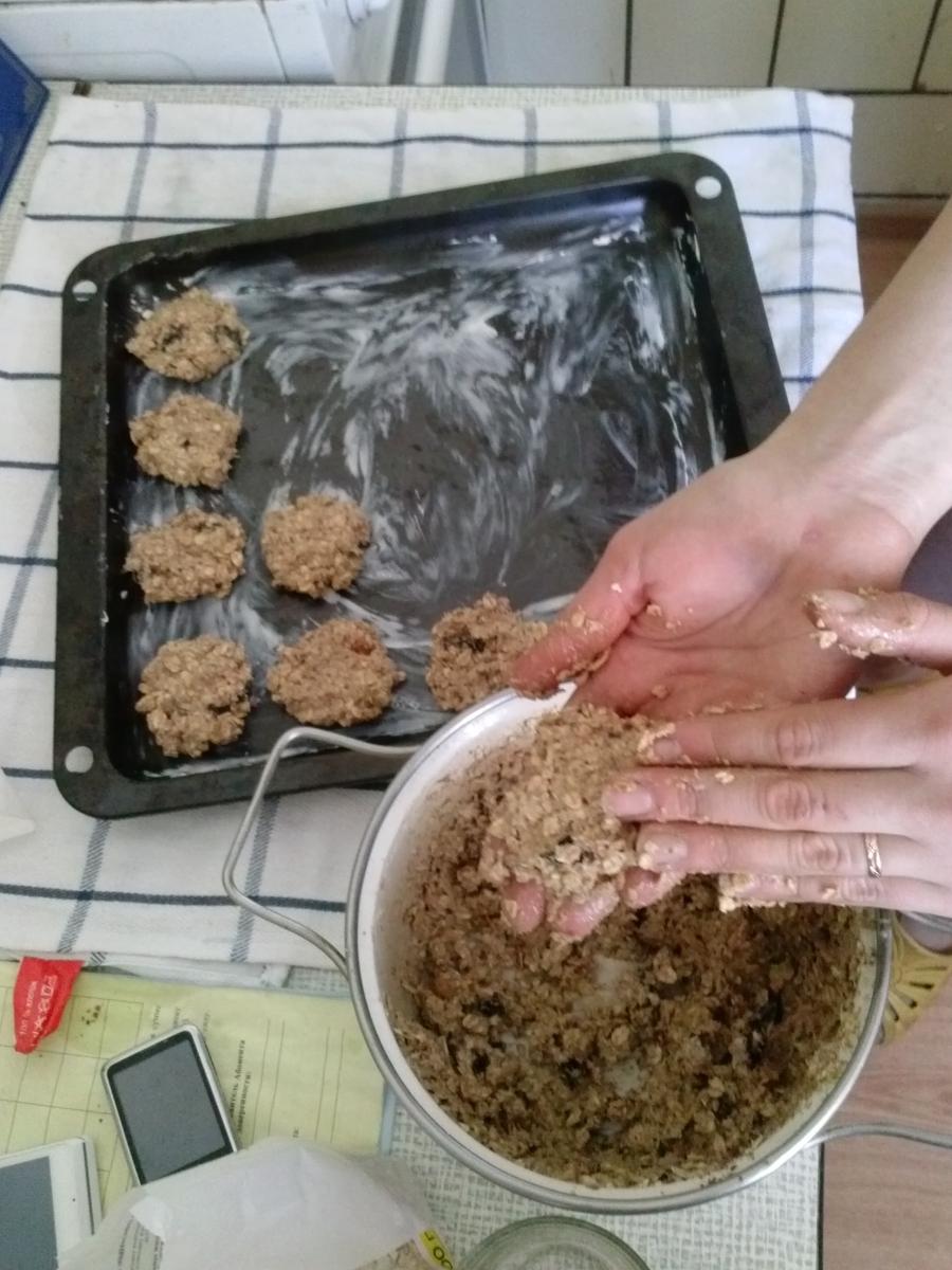 Овсяное печенье с сухофруктами - фото шаг 14